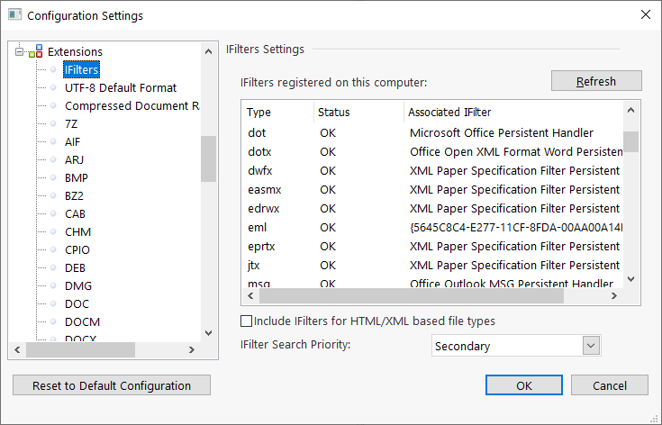 FileLocator Pro - IFilters